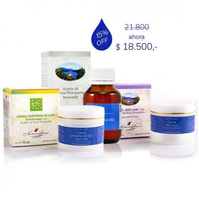 Set de Crema Anti-Age + Contorno de Ojos + A.R.M. x 70 ml